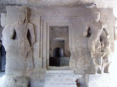 The central Shiv Linga at Elephanta Caves
